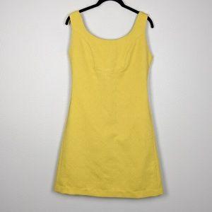 Anthropologie Rain in Spain Mustard Jacquard Dress